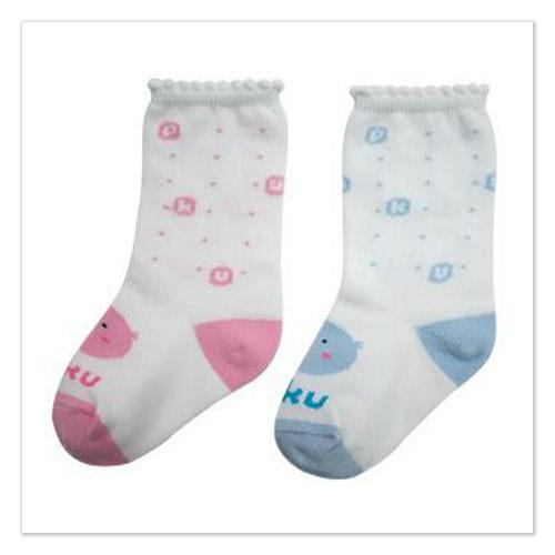 ~ 魔法Baby ~~PUKU藍色企鵝小腿襪~內著紡品~p27020~