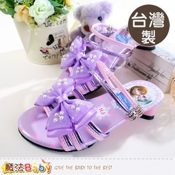 女童涼鞋 台灣製迪士尼冰雪奇緣卡通女童涼拖鞋 魔法Baby~sa54007