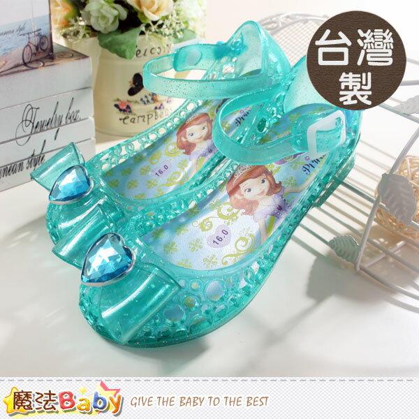 女童涼鞋 台灣製專櫃款迪士尼蘇菲亞小公主果凍娃娃鞋 魔法Baby~sa54465
