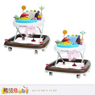 嬰幼兒用品~360度旋轉靜音嬰幼兒學步車(卡其/藍)~魔法Baby~tb887