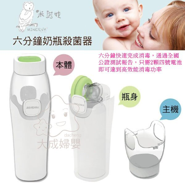 【大成婦嬰】MINERVA 米諾娃 六分鐘奶瓶殺菌器 殺菌 清潔 消毒 6分鐘 (原AcoMo) 0