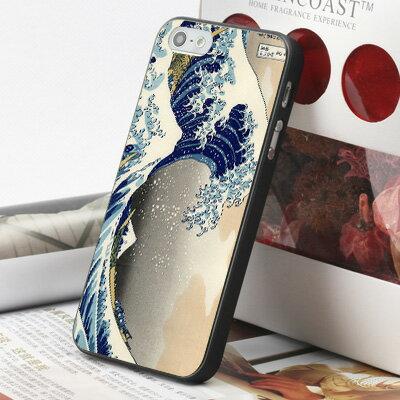 [機殼喵喵] Apple iPhone 4S 4G 4 i4 iP4 手機殼 外殼 客製化 水印工藝 WZ157 波達 海浪