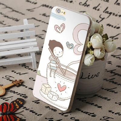 [機殼喵喵] Apple iPhone 6 6S i6 i6P i6S 手機殼 外殼 客製化 水印工藝 WZ300 幾米 咖啡情侶