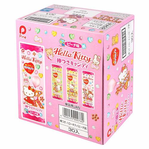 有樂町進口食品 日本 Pine派恩 凱蒂貓棒棒糖 水蜜桃 30隻入(盒) 4902435000760 0