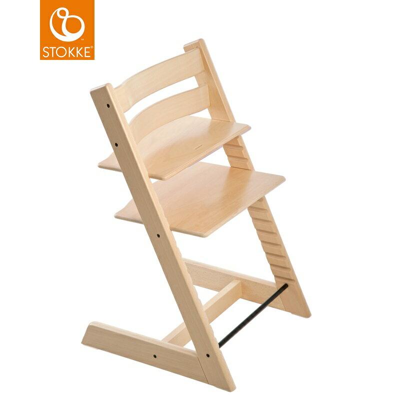 挪威【Stokke】Tripp Trapp 成長椅-原木 0