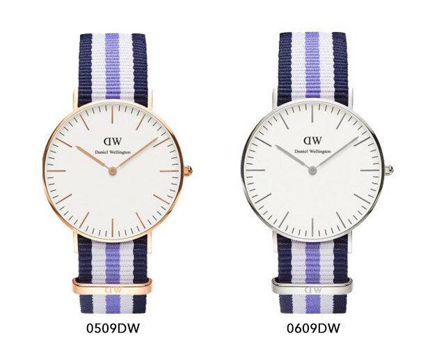 瑞典正品代購 Daniel Wellington 0509DW 玫瑰金 尼龍 帆布錶帶 手錶腕錶 36MM 4