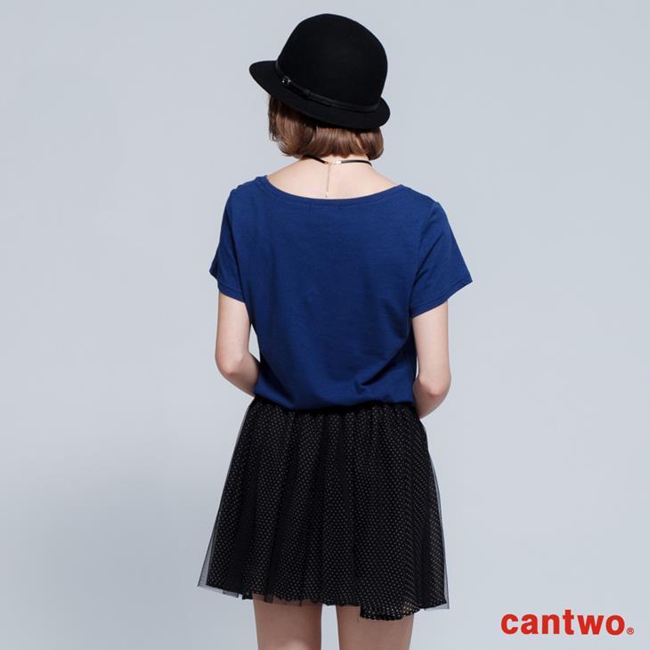 cantwo立體高跟鞋棉T(共三色) 3