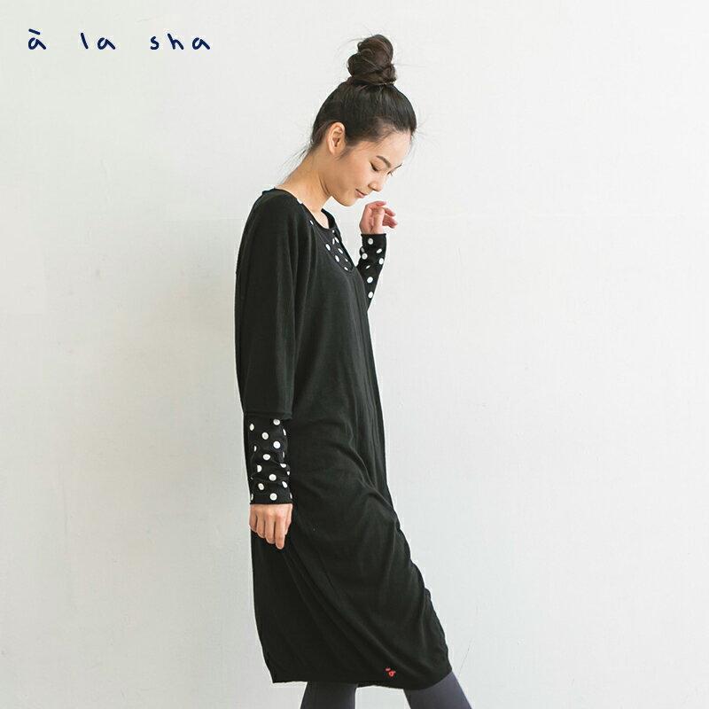 a la sha mucha 簡約設計感長版針織衫 1