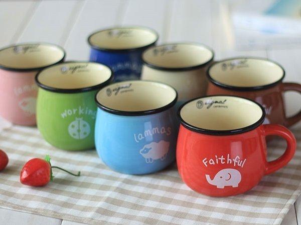 《愛鴨咖啡》zakka創意雜貨 陶瓷大牛奶杯 咖啡杯 早餐杯 牛奶杯 350ml(大)
