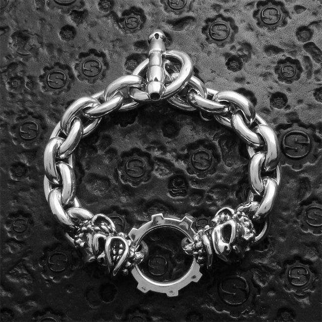 【海外訂購】【STARLINGEAR】地獄潑猴骷髏鎖鏈純銀手鍊(STB069Monkey  0558120000) 4