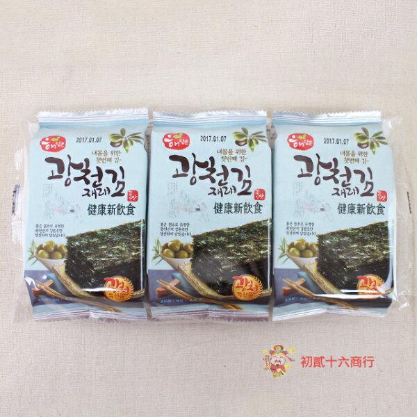 【0216零食會社】韓國廣川_傳統海苔4.5g*3包入