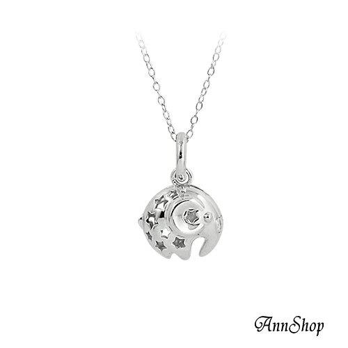 AnnShop小安的店【925純銀‧可開式大象項鍊】【單條】銀飾飾品/情人禮物 CL0491