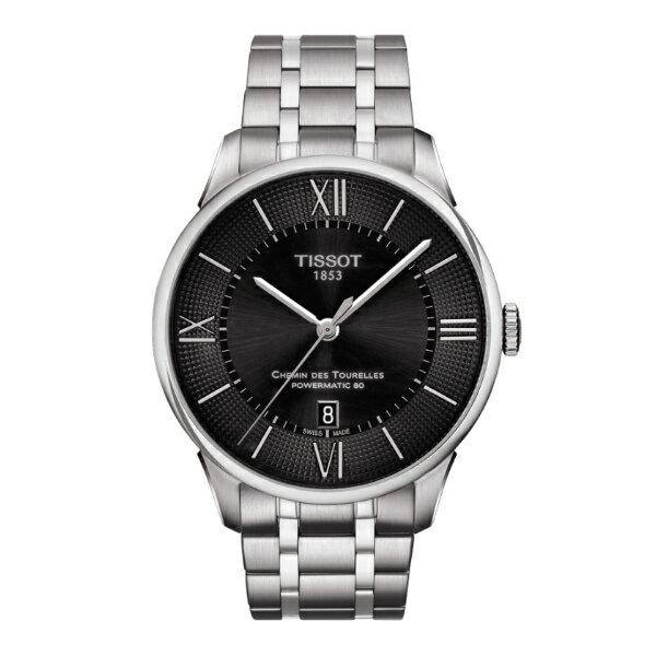 TISSOT天梭T0994071105800 杜魯爾羅馬經典80小時機械腕錶/黑面42mm
