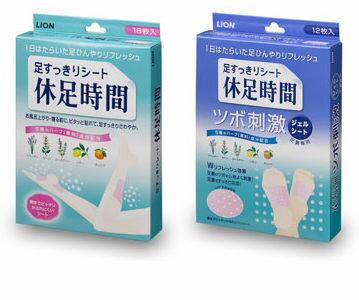 日本 LION 休足時間 舒緩足部貼布/腳底清涼顆粒 兩款可選 (單包入)