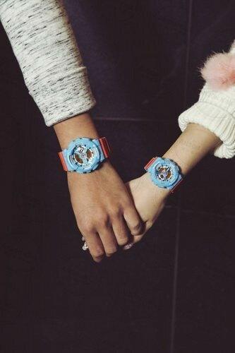 國外代購CASIO BABY-G BA-110NC-2A 藍橘 雙顯 防水 手錶 腕錶 情侶錶 1