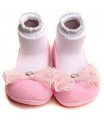 【本月特價$599】韓國【Attipas】快樂腳襪型學步鞋-水晶粉紅 - 限時優惠好康折扣