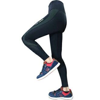 Attis Captain-加壓褲-(黑/綠點) 運動 顯瘦 束褲 緊身褲 壓力褲 0