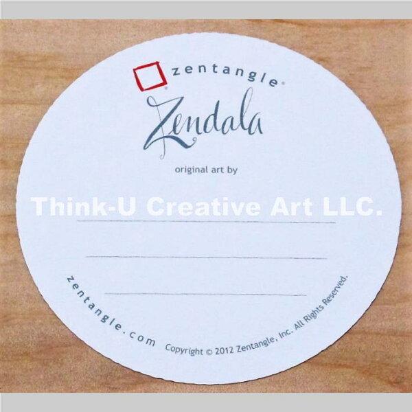 ZENTANGLE ®  禪繞畫  官方白色圓磚