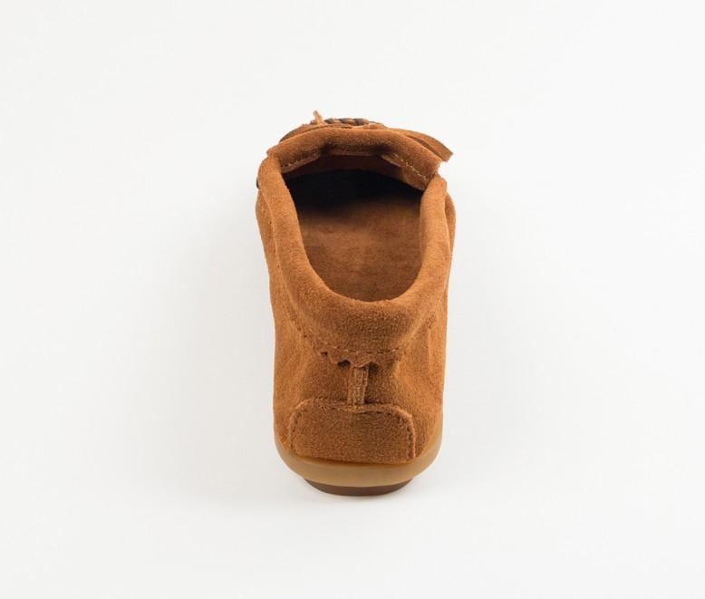 【Minnetonka 莫卡辛】棕色 - 磨砂牛皮、豆豆底、流蘇、蝴蝶結、串珠、雷鳥二代 4