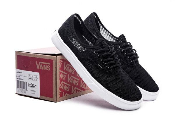 Vans 經典低幫 滑板鞋運動鞋 休閒男生女生鞋子 超透氣鞋 黑色VN-018 (黑白情侶款)
