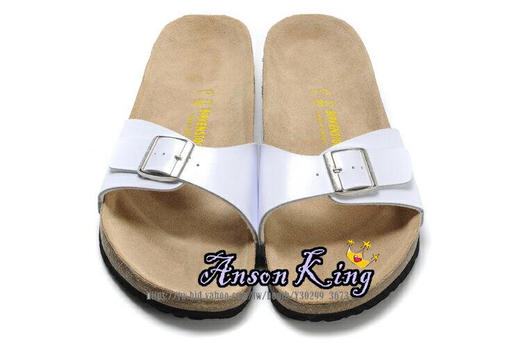 [Anson King]Outlet正品代購 birkenstock Madrid系列 男女款 懶人涼拖鞋 白色 0