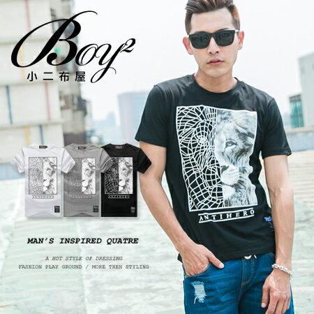 ☆BOY-2☆【JB1193】韓版獅子線條男裝短袖上衣 0