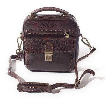 Tassia Enzo Upright Messenger Bag (brown) 0