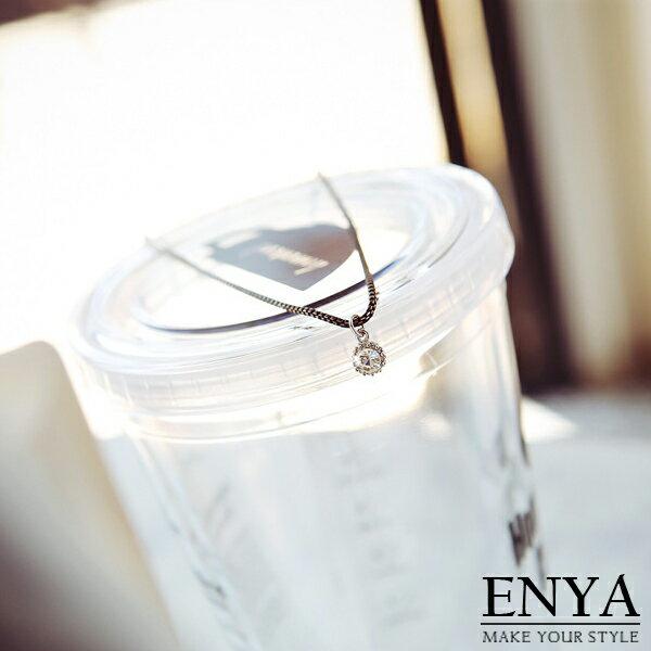 輕盈 水鑽項鍊 Enya恩雅^(正韓飾品^)~NESS6~ ~  好康折扣