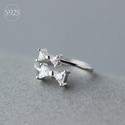 925純銀戒指鑲鑽開口戒~華麗非凡精雕細琢七夕情人節 女飾品73dt560~ ~~米蘭 ~