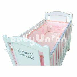 Mam Bab夢貝比 - 貝比熊純棉嬰兒床加高單護圈 -L (68x120cm大床適用)