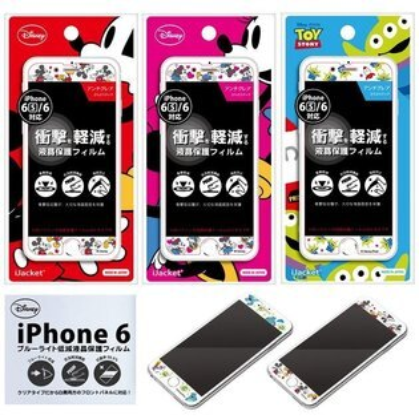 日本 原裝授權 迪士尼 米奇 米妮 小飛象 iPhone 6 I6 螢幕保護貼 螢幕貼 防刮/防磨損