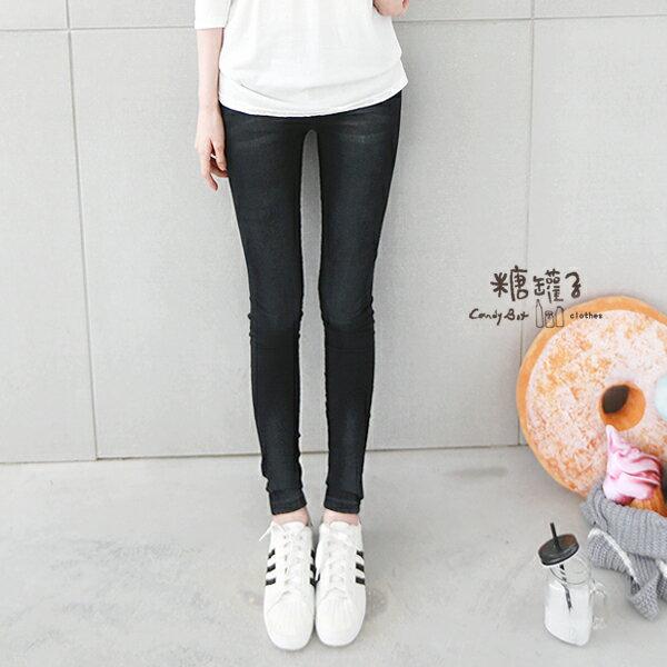 ★原價499下殺299★糖罐子刷色口袋縮腰窄管褲→現貨+預購【KK4744】 2