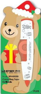 PLUS修正帶-聖誕版小熊限量版 5mm*6m