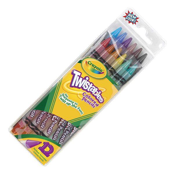 Crayola 68-7408旋轉式彩色鉛筆12色