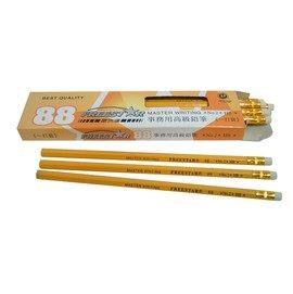 富瑞達 88 HB高級皮頭鉛筆(12支/打)六角桿‧皮頭