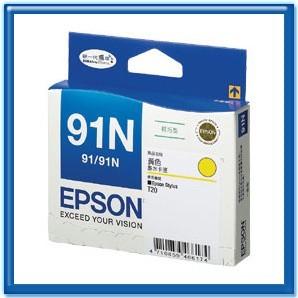 EPSON T107450 91N 黃色原廠墨水匣