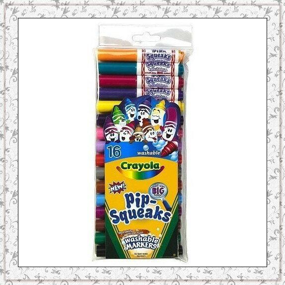 Crayola 58-8703 可優蠟 易清洗兒童粗彩色筆(可水洗) - 16色短型