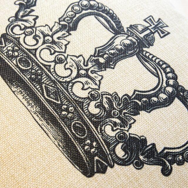女王的皇冠  棉麻材質   45cmX45cm 花色獨特 觸感扎實 1
