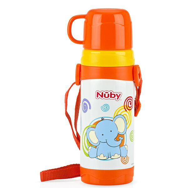 Nuby - 不銹鋼真空背帶水壺 (杯蓋) 360ml 拉拉象 - 限時優惠好康折扣