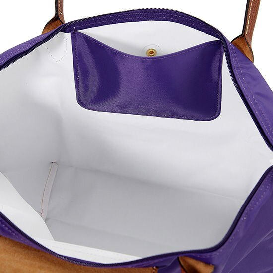 [長柄M號]國外Outlet代購正品 法國巴黎 Longchamp [1899-M號] 長柄 購物袋防水尼龍手提肩背水餃包 水晶紫 2