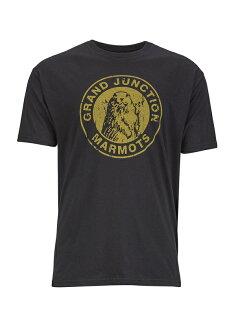 ├登山樂┤美國Marmot土撥鼠 Grand Junction 男款短袖混棉紡吸濕排汗衣 黑色#54200-0001