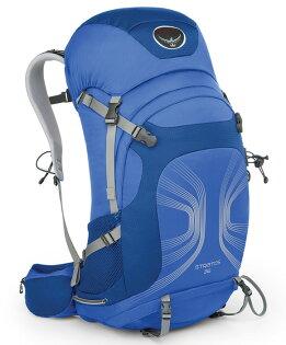 【鄉野情戶外專業】 Osprey |美國|  STRATOS 36 登山背包/自助旅行背包 健行背包-海藍M/L/Stratos36 【容量36L】