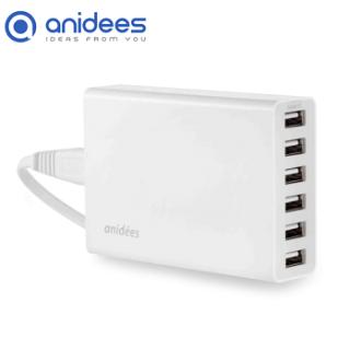 anidees 6 port 10A USB桌上型智能電源充電器 (支援iPhone 6快充)