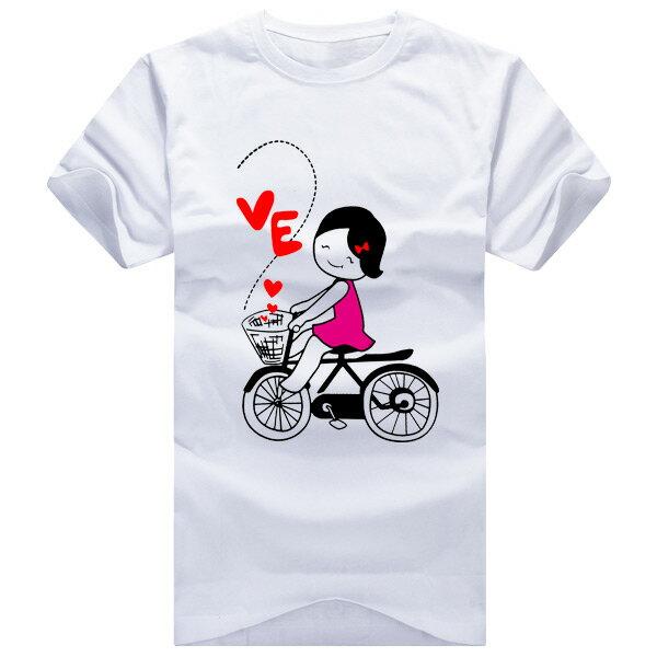 ◆快速出貨◆獨家配對情侶裝.客製化.T恤.最佳情侶裝.獨家款.純棉短T.MIT台灣製.LOVE BICYCLE【Y0008】可單買.艾咪E舖 2