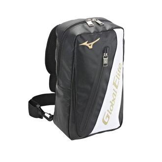 日本同步暢銷款〈Global Elite〉個性化單肩背袋 1FTD570309〈黑〉【美津濃MIZUNO】