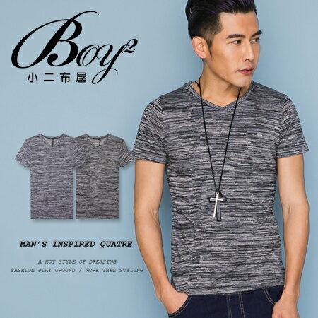 ☆BOY-2☆【LL1006-1】休閒滿版線條素面圓領短袖T恤 0