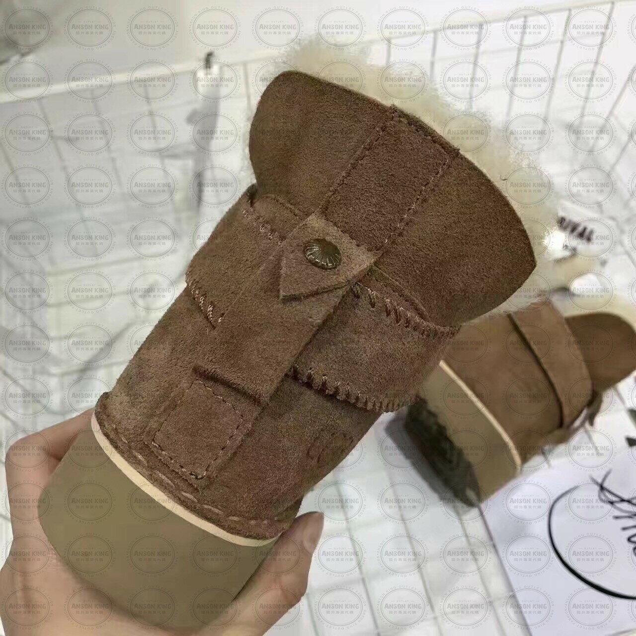 OUTLET正品代購 澳洲 UGG 羊皮毛一體馬汀靴 中長靴 保暖 真皮羊皮毛 雪靴 短靴 棕色 3