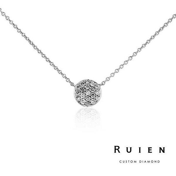 0.10克拉 14K白金 設計款 輕珠寶鑽石項鍊 RUIEN 瑞恩珠寶