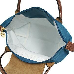 [短柄S號]國外Outlet代購正品 法國巴黎 Longchamp [1621-S號] 短柄 購物袋防水尼龍手提肩背水餃包 孔雀藍 3
