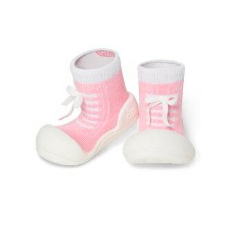 【本月特價$599】韓國【Attipas】快樂腳襪型學步鞋-律動粉紅 - 限時優惠好康折扣